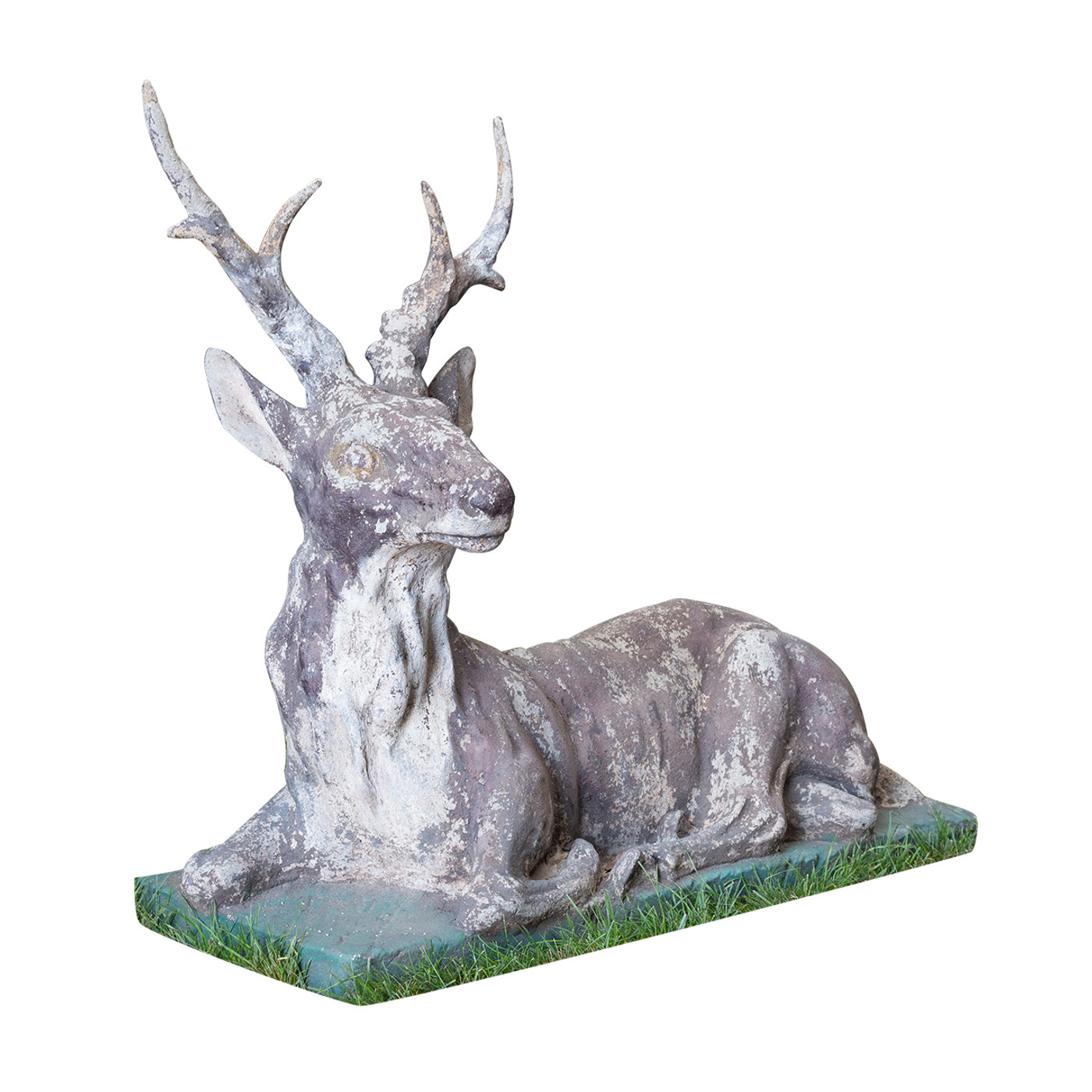 Stone Sculpture of a Stag - French late 19th. C