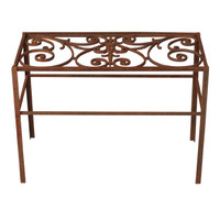 Console Made from Antique Grate