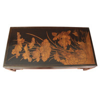 Chow Low Table with Antique Coromandel Panel Top by Manheim-Ruseau
