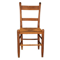 Antique Rush-Seat Shaker Chair