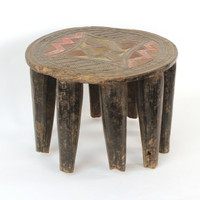 Carved Nupe Stool from Nigeria