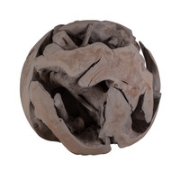 Hand Carved Teak Root Ball #1