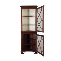 Adams Style Corner Cabinet, Antique
