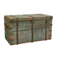 Immigrants Chest in Robins Egg Blue