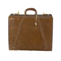 Vintage Leather Hardshell Travel Case - Small
