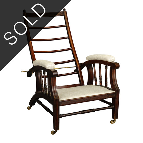 """Carved """"Morris"""" Chair, late 19th c."""