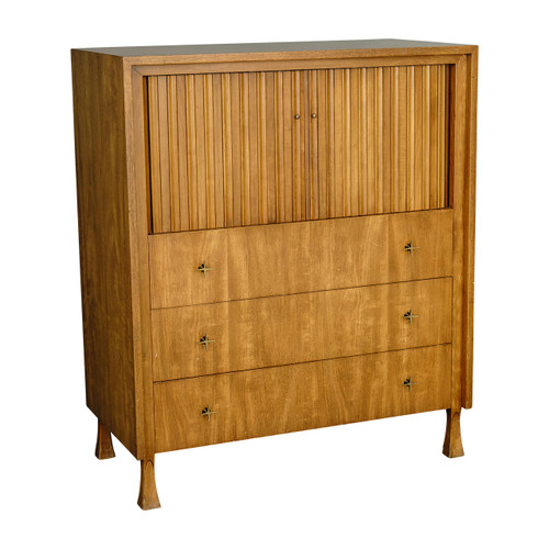 Mid-Century Gentleman's Tambour Door Chest by John Widdicomb