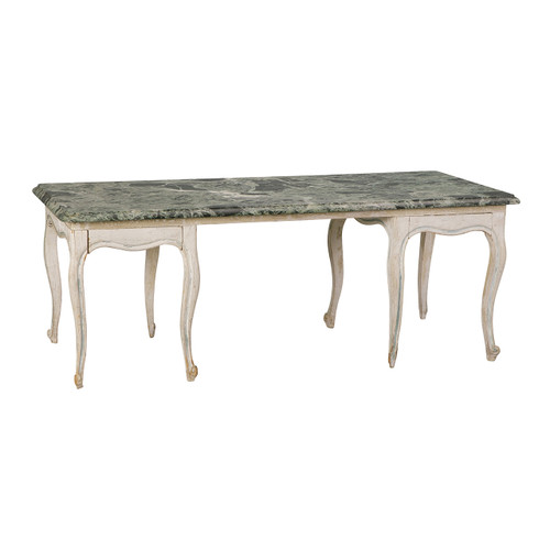 Louis XVI Style Marble Top Coffee Table