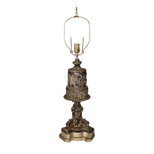 Neoclassical Style Silver Table Lamp