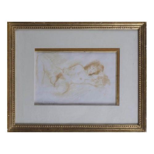 Framed Drawing by Raphael Soyer - American 1899-1987