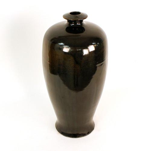 Black Glazed Vessel w/ narrow neck #3