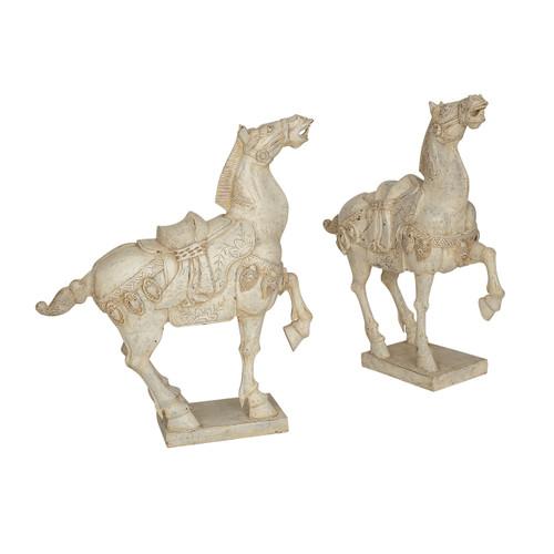 Carved & Painted Horses, Vintage - PAIR