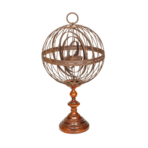 Antique Iron Ship's Light on Stand