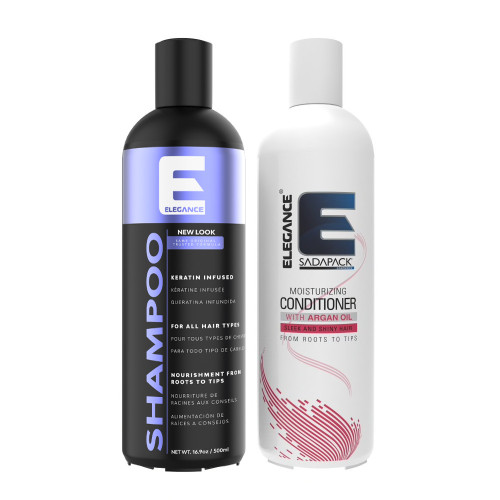 Shampoo and conditioner hair bundle. Keratin hair treatment.