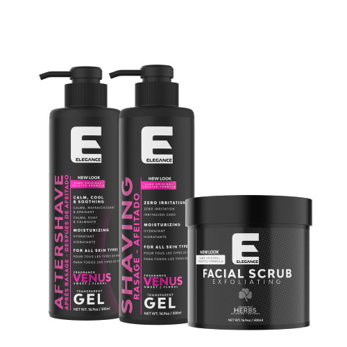 Elegance Facial Kit 500ml (3 Pack)