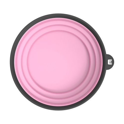 Top view of pink tint bowl used by barbers and hair stylist.