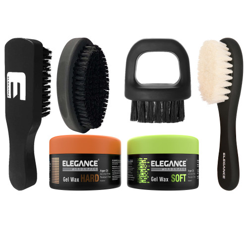 Barber brush set for all your hair cutting, hair fading, hair cleaning, and hair styling needs.