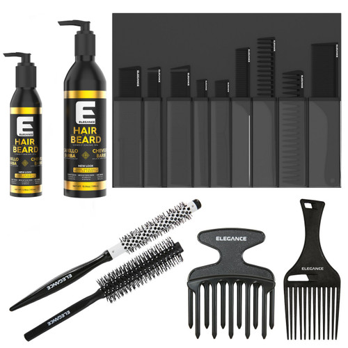 Hair and beard bundle and starter kit. Perfect gift to maintain your beard and hair with accessories.