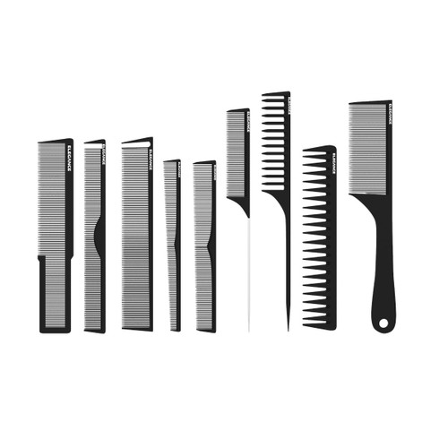 Hair comb set for professional barbers.