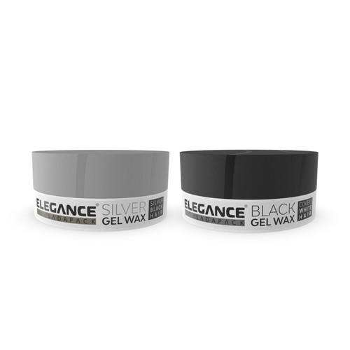Hair Styling Wax Plus Color - Black / Silver - 2 Pack