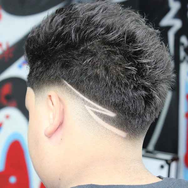 Ducktail hair style example