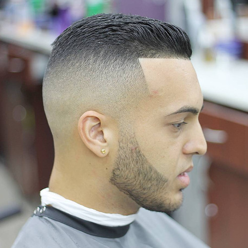 slick back hair style example
