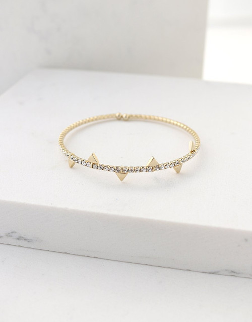 Lover's Tempo On Point Crystal Bangle