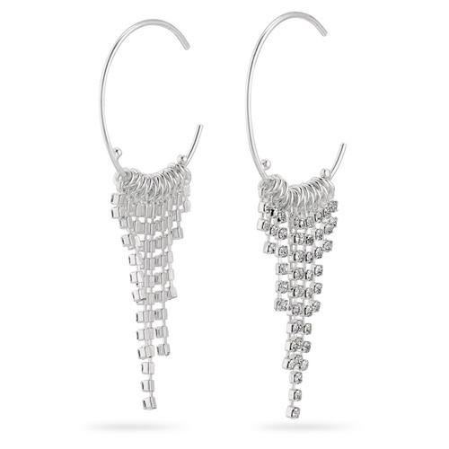 Pilgrim Crystal Silver Hoops