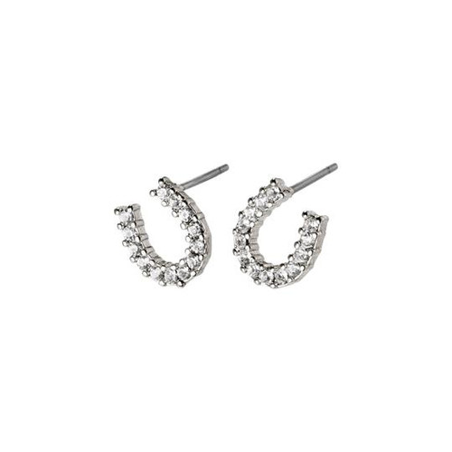 Pilgrim Leanna Silver Crystal Stud Earrings