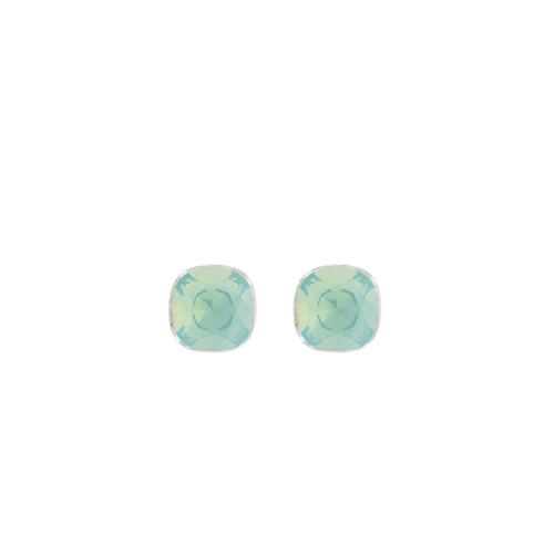 Myka Cushion Post Earrings Pacific Opal