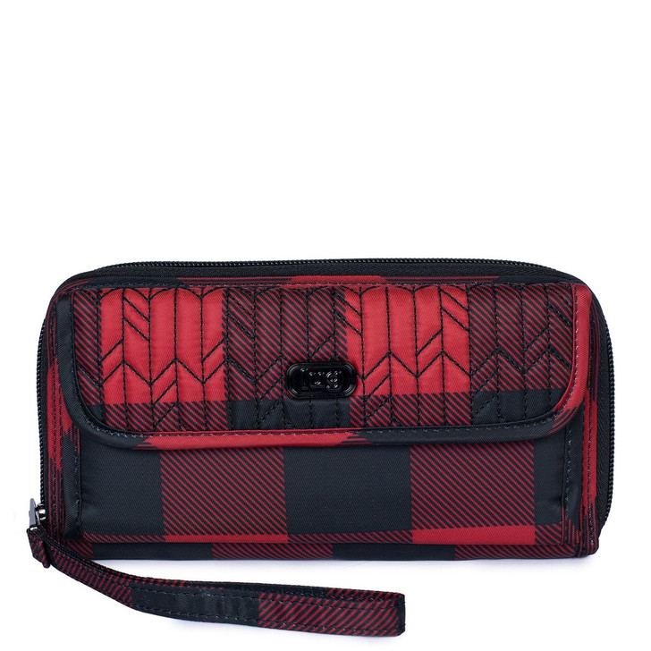 Lug Kick Flip 3 Convertible Wallet- Buffalo Check Red