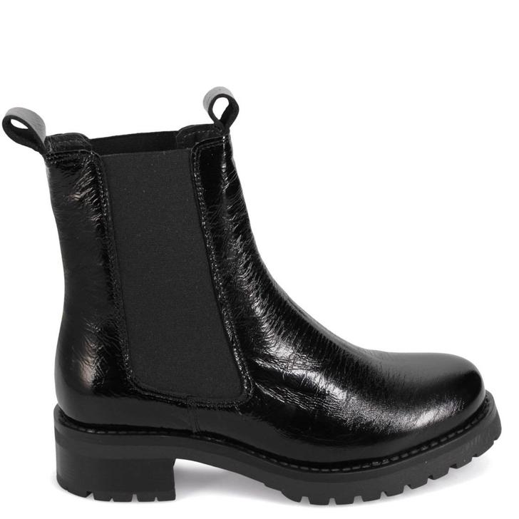 Miz Mooz Phoenix Boot Black Crinkle Patent