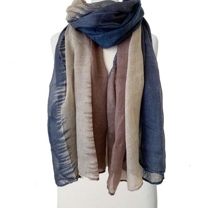 Caracol Blue Lightweight & Breezy Printed Scarf