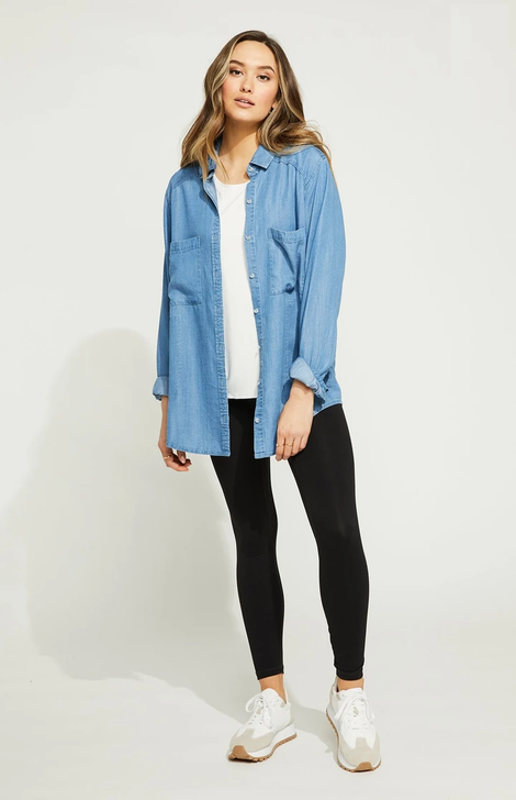 Gentle Fawn Bailey Top Washed Blue