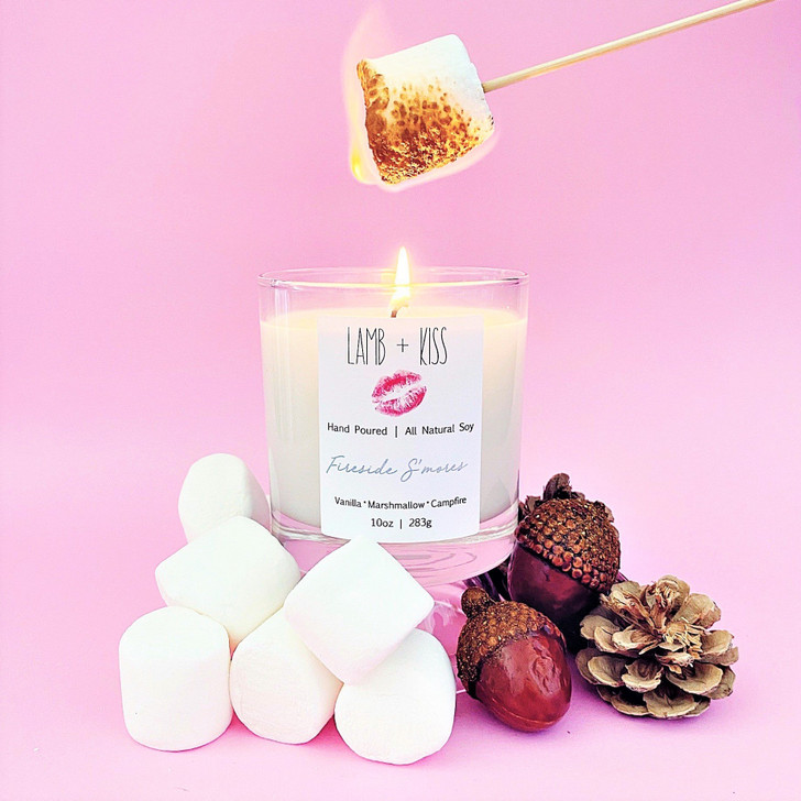 Lamb + Kiss Fireside S'mores Candle 10oz