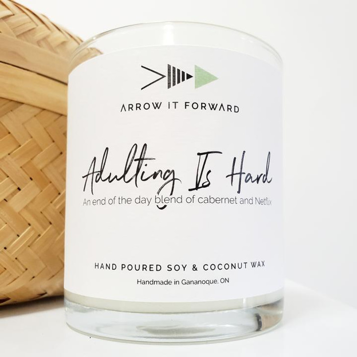 Arrow It Forward 8oz Soy Candle Tumbler- Adulting Is Hard