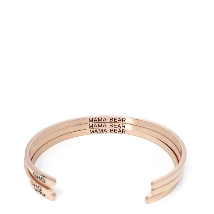 "Glass House Goods ""Mama Bear"" Rose Gold Bracelet"