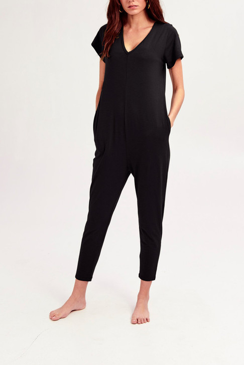 Smash & Tess The Sunday Romper In Midnight Black