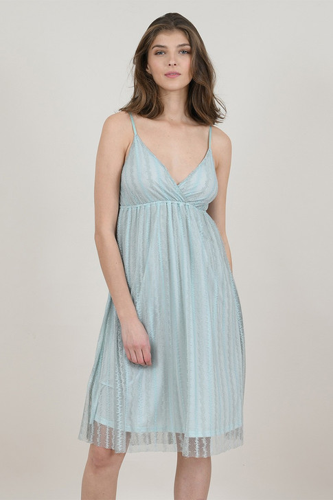 Molly Bracken Mint Lace Dress With Thin Straps