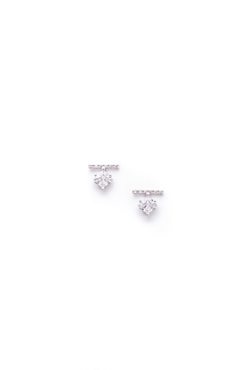 Lover's Tempo Vale Stud Earrings Silver