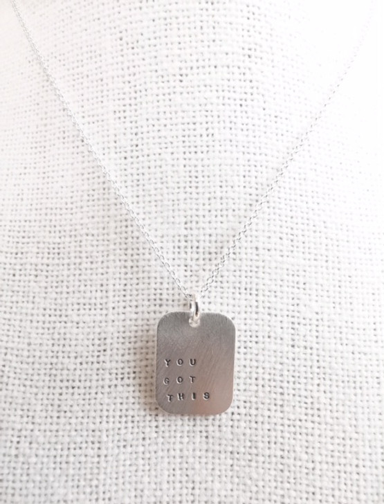 Andrea Waines You Got This Mod Square Necklace