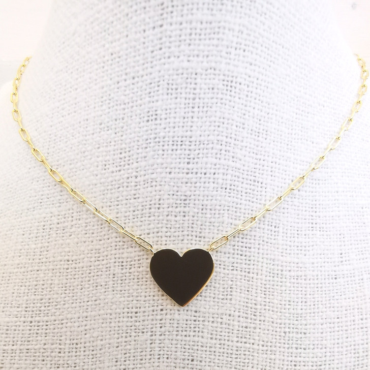 Tashi Gold Vermeil Heart Necklace With Parallel Chain