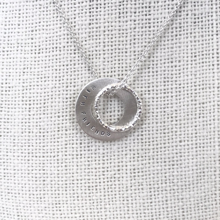 Andrea Waines Life Is Better With Friends Double Halo Necklace