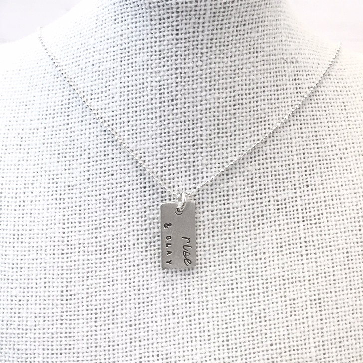 Andrea Waines Rise and Slay Rectangle Necklace