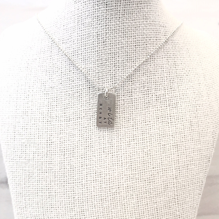 Andrea Waines Wild at Heart Rectangle Necklace
