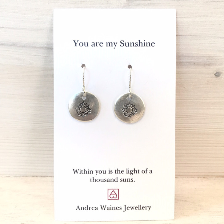 Andrea Waines You Are My Sunshine Earrings