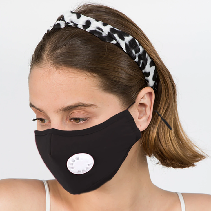 Only Accessories Solid Mask With Filter Black