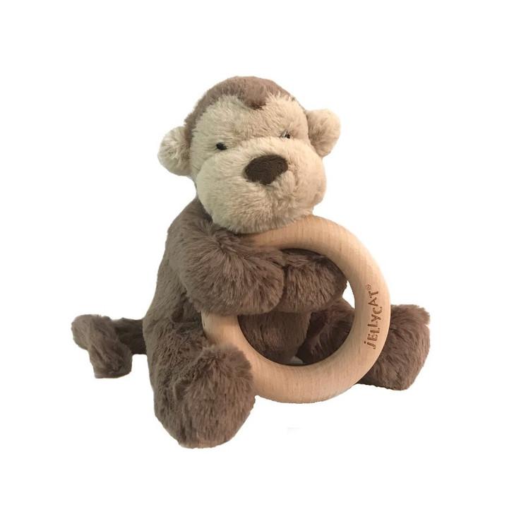 Jelly Cat Bashful Monkey Wood Ring