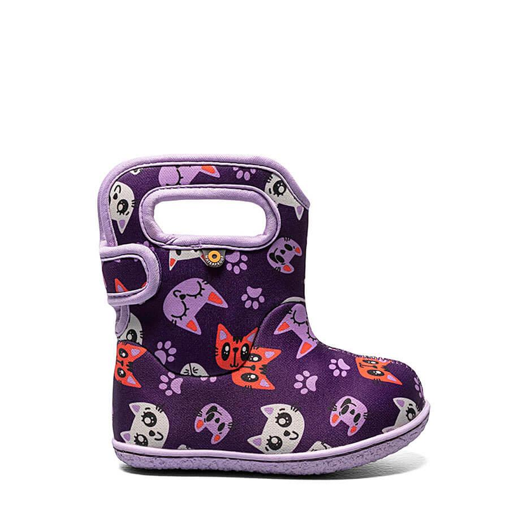 Baby Bogs Kitty Purple Boots