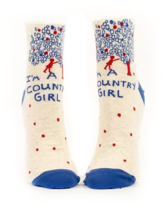 Blue Q - I'm A Country Girl Ankle Socks